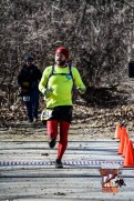 Russell Wenz approaches the finish line