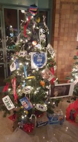 The Fishing River Running Club's decorated tree the Hall of Waters. Thanks, Sarah Wilson!