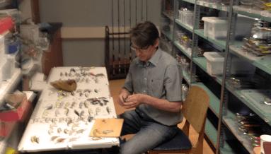 Jarmo Rapala at work reverse engineering Bagley Baits