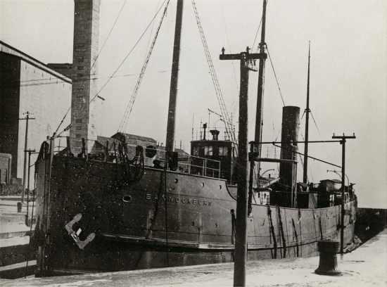 Bonnockburn in drydock at Kingston, Ontario. Source: wiki