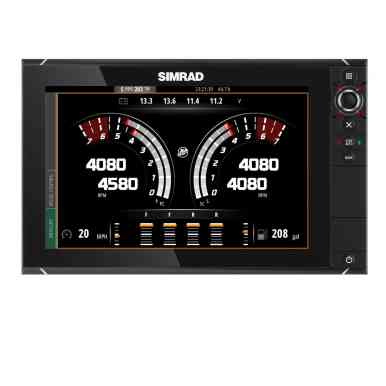 Vessel View is also available on Simrad products