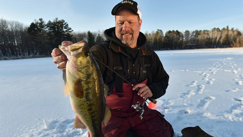 Catching Bass Under Ice