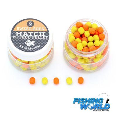 Novák Feeder Match Method Pellet -6mm, édes (narancs-sárga)
