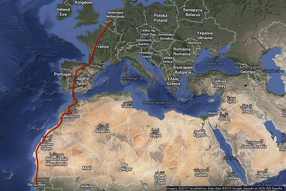 auto rijden naar Afrika