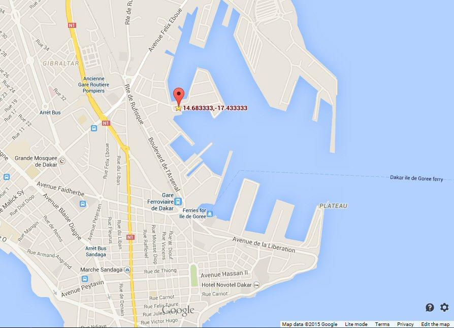 Google Maps Dakar Port