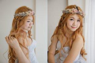 長髮控新娘看過來 這樣也能變出你愛的造型 蝴蝶