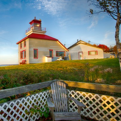 Converted from a working lighthouse to an awesome place to stay.