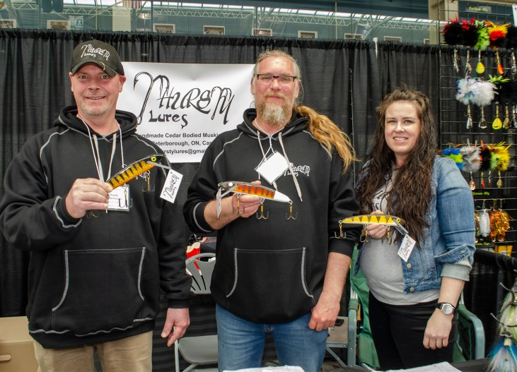 Frank and team at the booth with the remaining few baits.