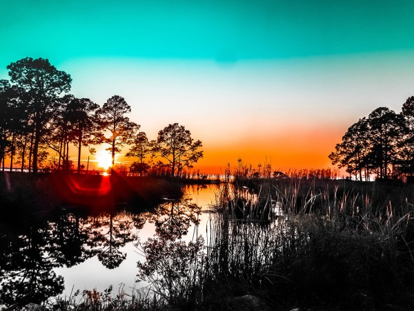 Landscape photography, southern, pond