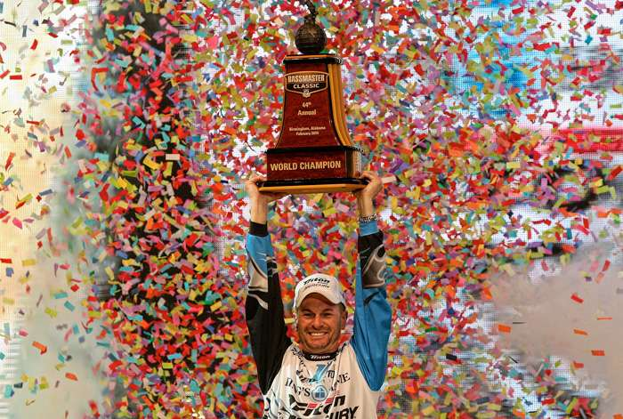 Randy Howell on the Bassmaster Classic stage