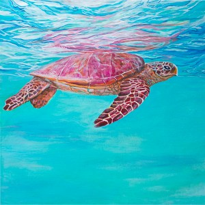angie thompson sea turtle painting