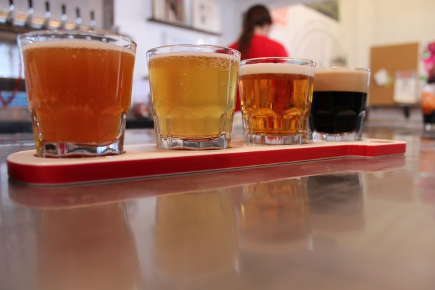 "The ""Other Flight"" at Rockaway Brewing Company"