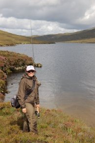 Anne Woodcock fishing the Outer Hebrides