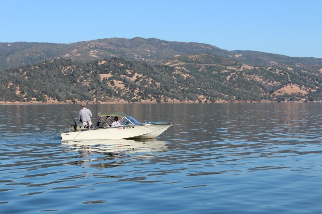 Trolling for trout and salmon is popular year round on Lake Berryessa.