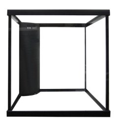 60 gallon cube reef ready framed aquarium with plumbing kit