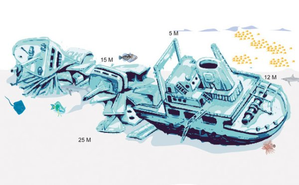 Giannis D wreck map