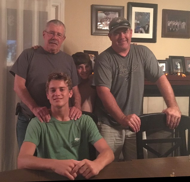 Finally he poses with all the Gillespie men. Good show of patience, Connor!