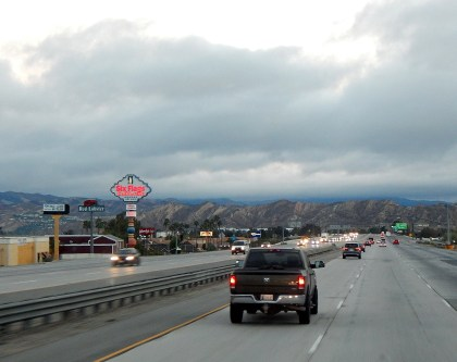 Northbound I-5 near Magic Mountain near Castaic, CA.