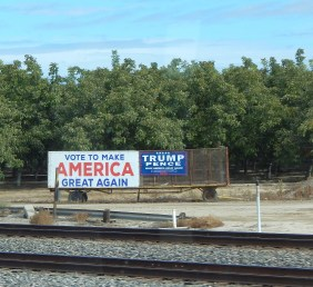 Valley Politics: I saw lots of these signs but no Hillary signs.