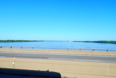 Crossing the Ohio River into Illinois.