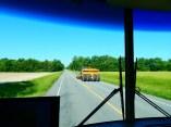 Sharing the road Illinois farmland style.
