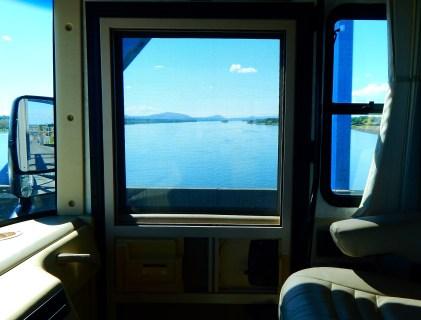 Crossing the Columbia River in Washington.