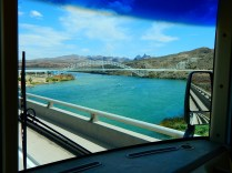Crossing the Colorado into Arizona on a perfect day for boating and driving.