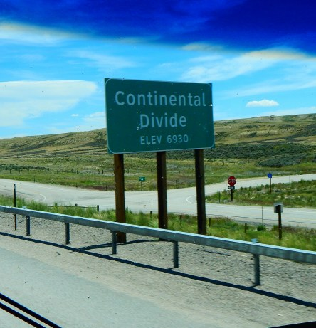 We crossed the Continental Divide in Wyoming. Twice.