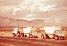Old #34 when I hauled lime from Ridgecrest, California near Death Valley. This load was likely heading to Salinas, CA.
