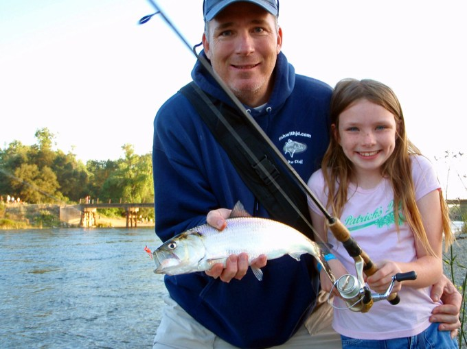 Shad fishing is a great family activity!