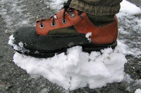 "Say goodbye to ""Snow Foot!"""
