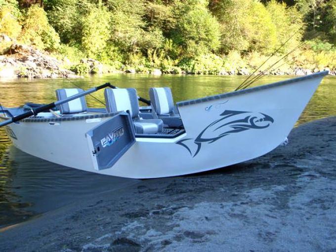 Aluminum drift boat - YouTube