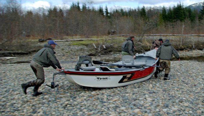 Drift Boat portage