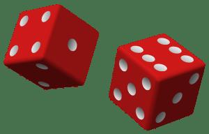 Teoría de la probabilidad. Los dados de seis caras son un clásico experimento aleatorio. Fuente: Wikipedia