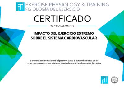 Certificado Impacto del ejercicio extremo sobre el sistema cardiovascular
