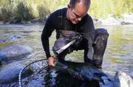 Fiskeerejser og fiskeeventyr - Peter med kongelaks han er glad