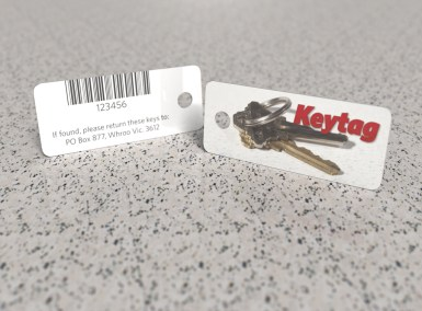 Red Sample Key Tag