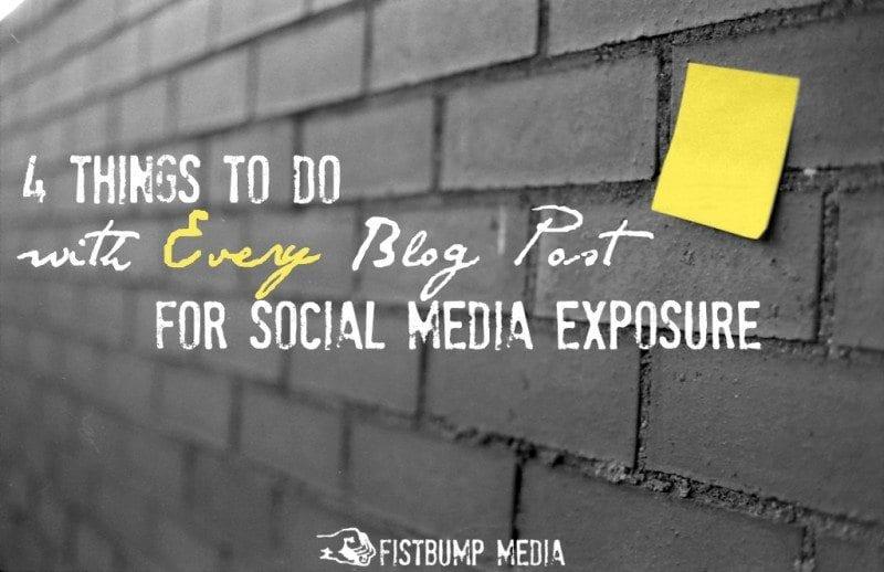 social media, blog post, blogging tips