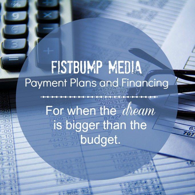 financing, payment plans, website design