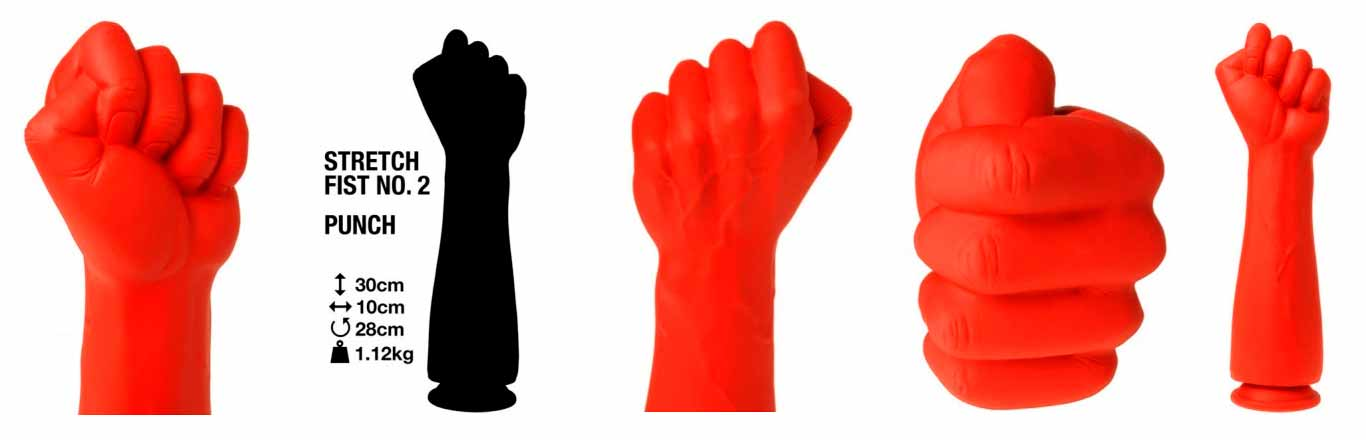 This Stretch Fist No.2 Dildo is a 32cm realistic red fist made of 100% premium silicone that features a full realistic clenched fist!