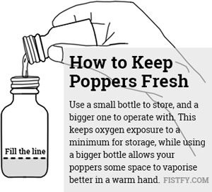 how to keep poppers fresh