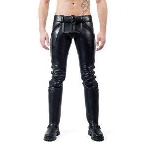 Mister B FXXXER Leather Jeans | All Black sale $450.27 ($562.84)