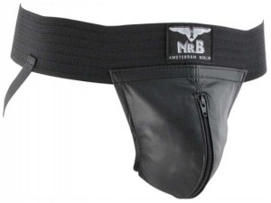 Mister B Leather Jockstrap Two Bands With Zip $49.62(25% Off) $66.16