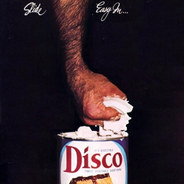 "there was the peculiar disco-oriented album released in 1977 by poet Rod McKuen called Slide ... Easy In. the album's cover art many in gay circles referred to it as the ""Crisco Disco album""."