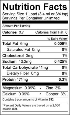 the Nutrition Facts of Semen