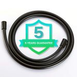 TECI Shower Hoses 119 Inch Extra Long, Bathroom Hand Held Long Shower Hose Replacement,360 Degree Free Rotation And Not Kink Shower Faucet Hose Extension,Black T101-3