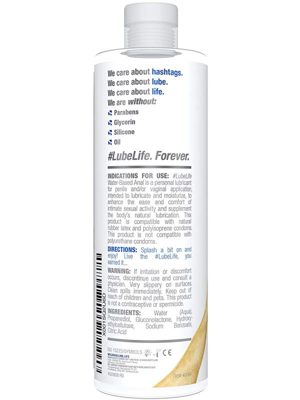 #LubeLife H2O Anal Lubricant, 12 Ounce Backdoor Lube for Men