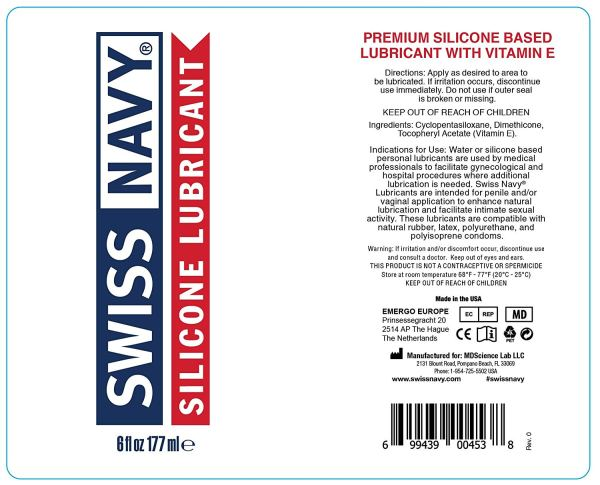 Swiss Navy Premium Silicone Lubricant 32 Oz