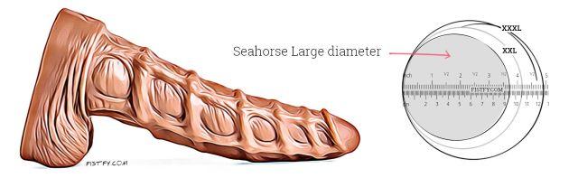 Seahorse dildo large diameter