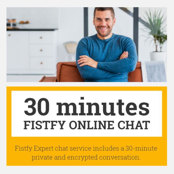 This service includes a 30-minute conversation with Fistfy Expert. Ask anything related to Anal Fisting. We help and you can chat with us in online chat.